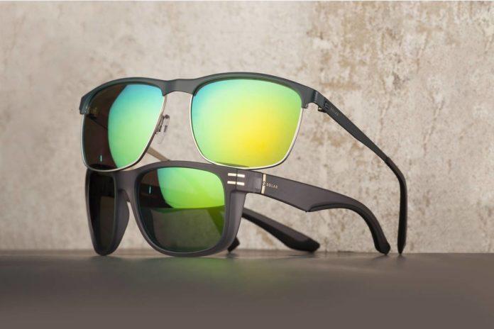 lunette de soleil de couleur verte